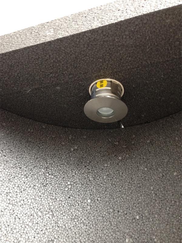 Dampfbadnische mit Lampenausschnitt