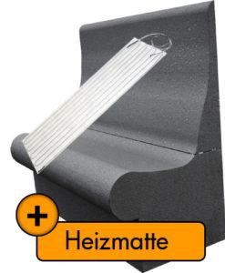 Set beheizte Dampfbadbank-T65