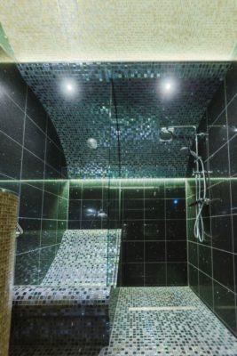 Exklusives Dampfbad mit Dusche