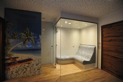 Tepidarium und Dampfbad in einer Kabine