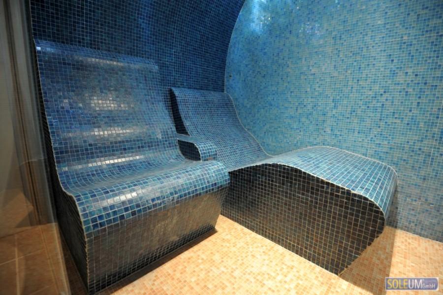Dampfbadsitz und Dampfbadliege