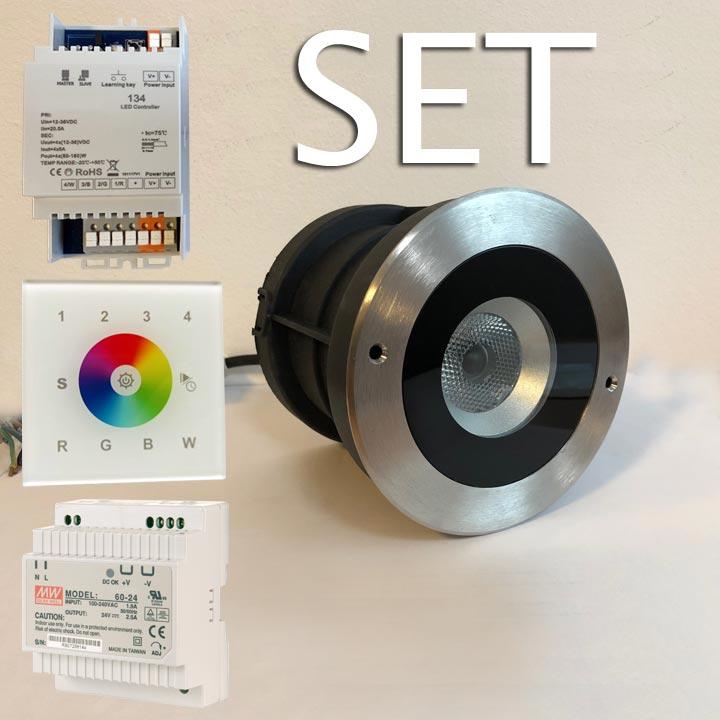 RGBW-Farblichtlampe-Set